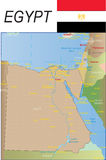 Egypt Map. Stock Photos