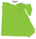 Egypt map. Designed in illustration with regions colored in green colors. Vector illustration stock illustration