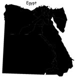 Egypt map. Blind map of Egypt  with regions borders Royalty Free Stock Photos