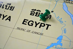 Egypt map Stock Image