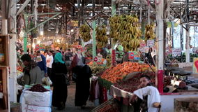 EGYPT - MARCH 20, 2015 Arabic traditional farmer stock video footage