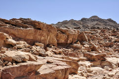 Egypt, the mountains of the Sinai desert Stock Photo