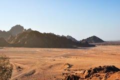 Egypt, the mountains of the Sinai desert Stock Images