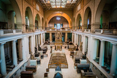Egypt museum Cairo pharaoh statue hall stock photos