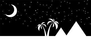 Egypt night landscape Stock Image