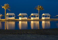 Egypt, night, reflection in water Royalty Free Stock Images