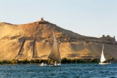 Egypt, the Nile. Egypt, the river Nile (boats Royalty Free Stock Photo