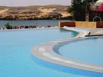 Egypt Nile Resort. Resort on the Nile at Abu Simbel, Egypt Royalty Free Stock Photos