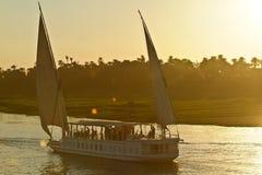 Egypt, Nile Valley, cruise ship on the Nile Stock Image