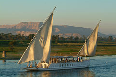 Egypt, Nile Valley, cruise ship on the Nile Royalty Free Stock Photography