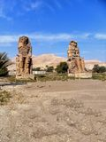Egypt, North Africa, The Colossi of Memnon, Thebes Royalty Free Stock Photo