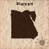 Egypt old map with grunge and crumpled paper. Vector illustration Stock Photos