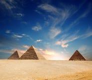 egypt ostrosłup Obraz Royalty Free