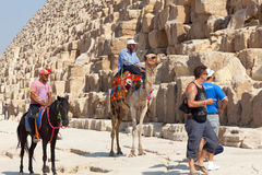 egypt ostrosłup Giza Fotografia Royalty Free
