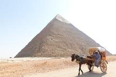 egypt ostrosłup Giza Obrazy Stock