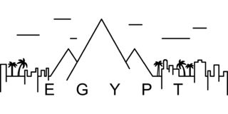 Egypt outline icon. Can be used for web, logo, mobile app, UI, UX vector illustration