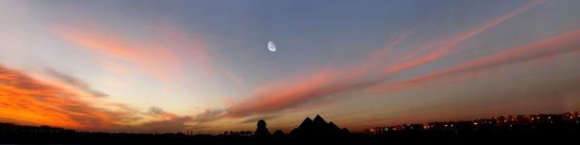 egypt panorama arkivbild