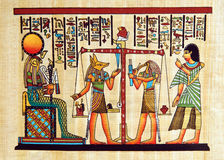 egypt papirus Zdjęcie Royalty Free