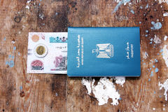 Egypt passport and money Stock Photos