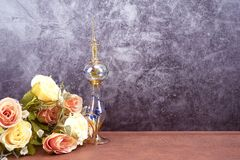 Egypt perfume bottles for show and background royalty free stock photos