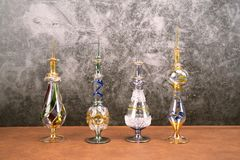 Egypt perfume bottles for show and background stock photo