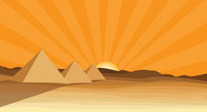 egypt piramid vektor illustrationer