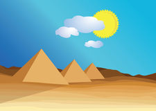 egypt piramid stock illustrationer