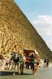 Egypt piramid. Phaeton on the Egyptian Pyramids in Giza stock photo