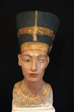Egypt princess head. As old history statue Stock Photos