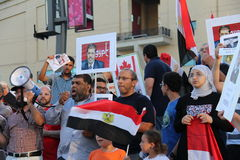 Egypt Protest Mississauga C Royalty Free Stock Photography