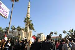 egypt protesterar s Fotografering för Bildbyråer