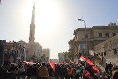 egypt protestuje s Zdjęcie Royalty Free