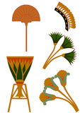 egypt prydnad stock illustrationer