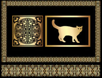 egypt prydnad royaltyfri illustrationer