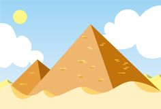 egypt pyramid stock illustrationer