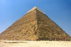 Egypt - pyramid in Giza. Egypt - Khafra's Pyramid of Giza, Cairo Royalty Free Stock Photos