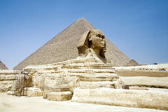 Egypt Pyramid and Sphinx Stock Images