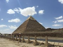 Egypt Pyramid. Way to Pyramids Royalty Free Stock Images