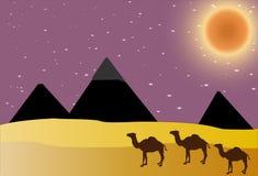 egypt pyramider stock illustrationer