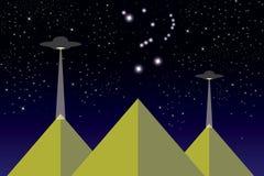 egypt pyramider vektor illustrationer