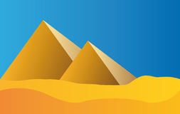 Egypt pyramids and blue sky Stock Image