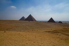 Egypt pyramids. In cairo egypt Royalty Free Stock Images