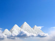Egypt Pyramids Giza. Clouds concept Stock Photography