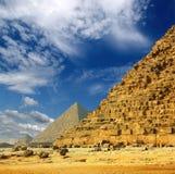 Egypt pyramids in Giza Cairo Stock Photography