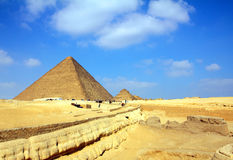 Egypt pyramids in Giza Cairo. Famous ancient egypt pyramids in Giza Cairo Royalty Free Stock Photo