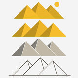 Egypt Pyramids, Giza Landscape. Outline vector Royalty Free Stock Photo