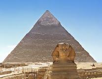 egypt pyramidsphinx Royaltyfria Foton