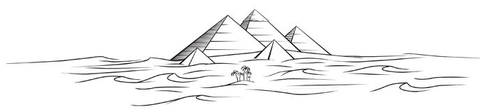 egypt pyramidvektor royaltyfri illustrationer