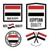Egypt quality label set for goods royalty free illustration