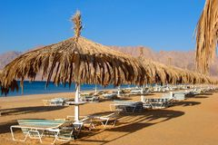 Egypt - Red sea with beach Royalty Free Stock Image